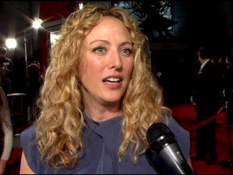 virginia madsen on working on a thriller doing an action film her character what drew her to the film at the 'firewall' premiere at grauman's chinese... - virginia madsen stock videos & royalty-free footage