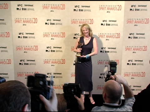 "virginia madsen, winner best supporting female for ""sideways"" at the 20th annual independent spirit awards press room at santa monica in sabta... - virginia madsen stock videos & royalty-free footage"