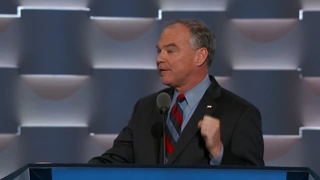 virginia senator and 2016 democratic party vice presidential candidate tim kaine tells convention delegates he had attended a jesuit high school with... - missionary stock videos & royalty-free footage