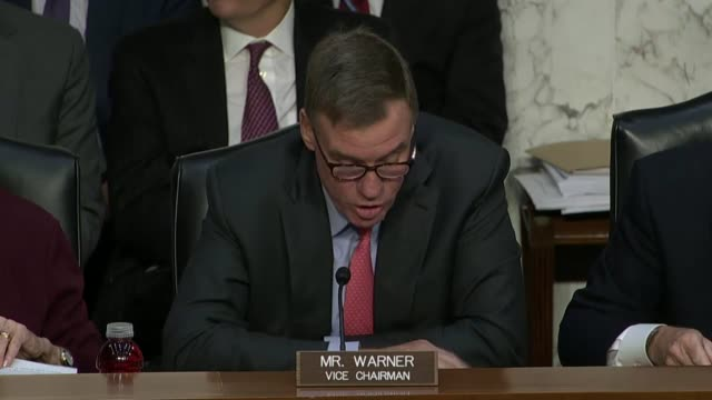 virginia senator mark warner says at a hearing of the senate select intelligence committee with representatives of facebook, twitter and google that... - politics and government stock videos & royalty-free footage