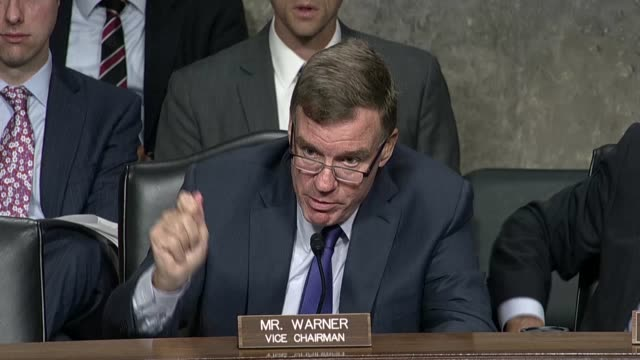 Virginia Senator Mark Warner tells Twitter CEO Jack Dorsey at a Senate Intelligence Committee hearing he appreciates the willingness to notify a...