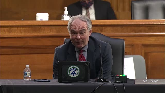 virginia senator tim kaine asks state department deputy secretary nominee wendy sherman at senate foreign relations committee nomination hearing if... - virginia us state stock videos & royalty-free footage