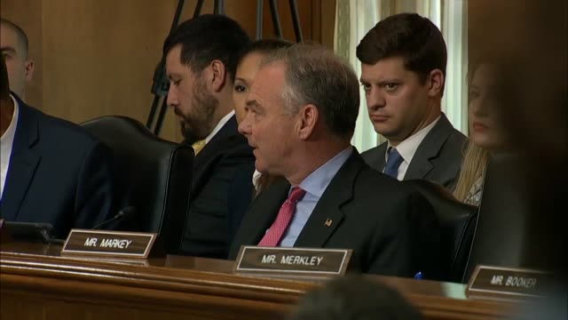 virginia senator tim kaine says at a senate foreign relations committee hearing that he worries about the trump administration taking sides with... - virginia us state stock videos and b-roll footage