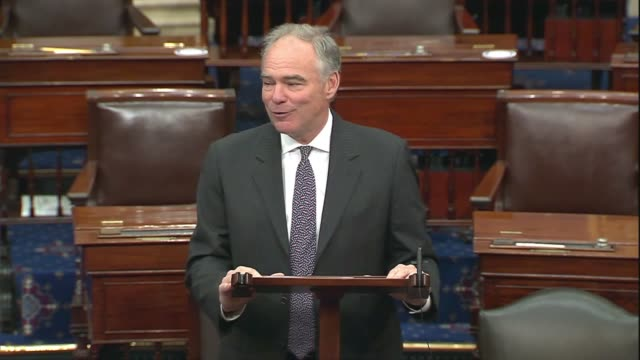 virginia senator tim kaine says in senate floor remarks a day after presumed presidential nominee joe biden chose california senator kamala harris as... - {{ collectponotification.cta }} stock videos & royalty-free footage