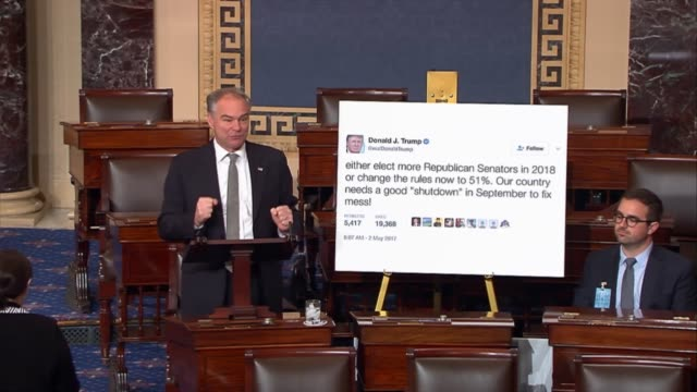 Virginia Senator Tim Kaine says that Congress is about to pass a salutory bill funding government through fiscal 2017 having been ready to do the...