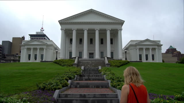 virginia state capitol building - government building stock videos & royalty-free footage