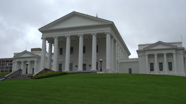 virginia state capitol building - richmond virginia stock videos & royalty-free footage