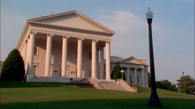 ms, virginia state capitol, richmond, virginia, usa - 18th century style stock videos & royalty-free footage