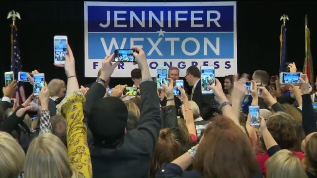 WTKR Virginia state Sen Jennifer Wexton gave a victory speech after defeating twoterm Republican Rep Barbara Comstock to win a hotly contested race...
