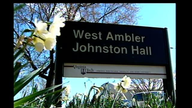 Killer identified/ police name victims Sign for West Ambler Johnston Hall