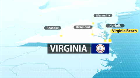 virginia - us state map - virginia us state stock videos & royalty-free footage