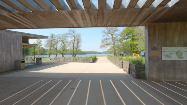 virginia waters lake is empty of visitors during lockdown due to the coronavirus pandemic on april 24, 2020 in surrey, england. the british... - naturkatastrophe stock-videos und b-roll-filmmaterial