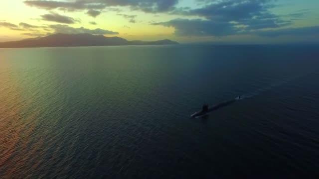 virginiaclass fastattack submarine uss missouri at sea - uss missouri stock videos and b-roll footage