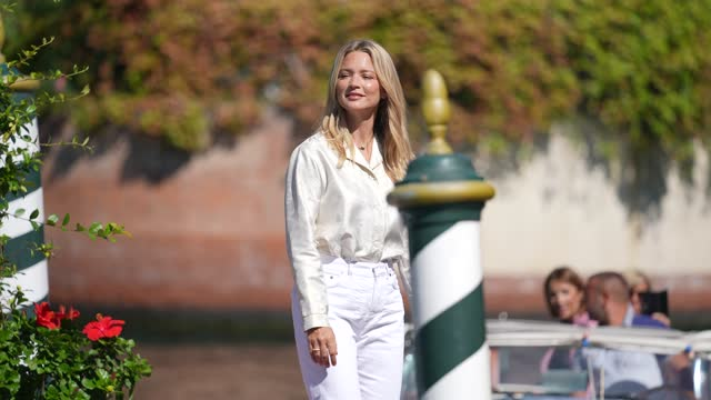 virginie efira is seen arriving at the 78th venice international film festival on september 1, 2021 in venice, italy. - celebrity sightings stock videos & royalty-free footage