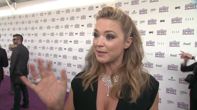 virginie efira on the event at piaget at the 2012 film independent spirit awards on 2/25/12 in los angeles ca - independent feature project stock videos and b-roll footage