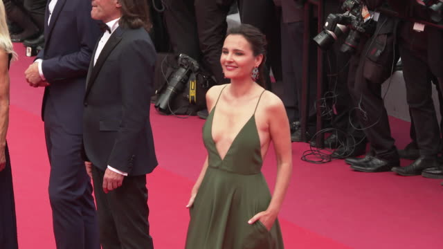 virginie ledoyen at 'once upon a time in hollywood ' red carpet arrivals the 72nd cannes film festival at grand theatre lumiere on may 21 2019 in... - grand theatre lumiere stock videos & royalty-free footage