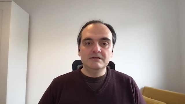 vídeos y material grabado en eventos de stock de virologist sterghios moschos from northumbria university speaks about the link between obesity and covid-19 deaths, and a new proposal to examine... - eslabón