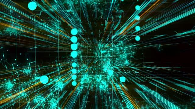 vídeos de stock, filmes e b-roll de tecnologia abstrata virtual social network social marketing internet conceito de internet - dance music