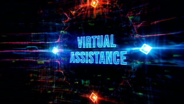virtual assistance background - punctuation mark stock videos & royalty-free footage