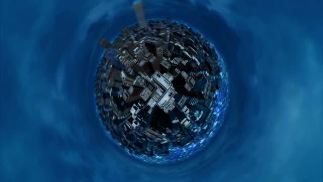 Virtual city at night