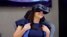 Virtual reality glasses,riding