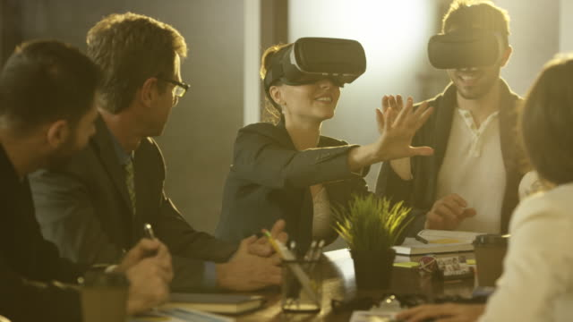 Virtual Reality in a Business Meeting