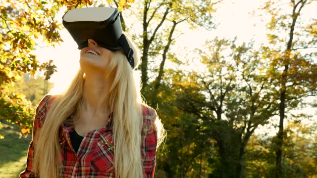 Virtual reality in beautiful forest