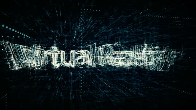 virtuelle realität, zahlen, big-data-hintergrund - schutzbrille stock-videos und b-roll-filmmaterial