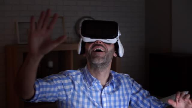 virtual reality simulator/debica/poland - podkarpackie voivodeship video stock e b–roll