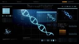 virtual screen with dna molecule