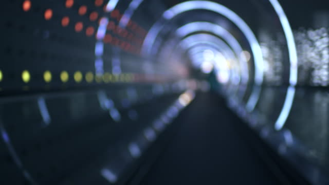 virtual space-time tunnel - wireless technology stock-videos und b-roll-filmmaterial