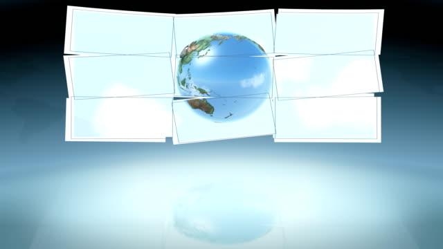 vidéos et rushes de studio virtuel. loop - télévision haute définition