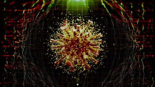 virus cell - herpes video stock e b–roll