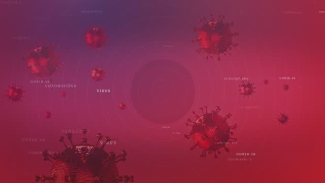 vídeos y material grabado en eventos de stock de virus cells flotando en el vídeo de stock de mid-air 3d render - animación biomédica