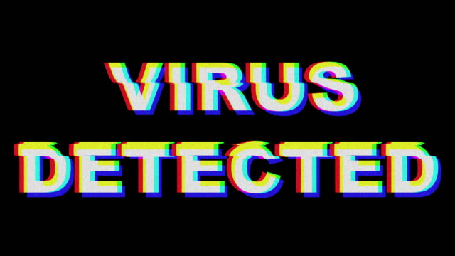 Virus Detected Glitch Text Effect