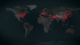 Virus spreads around the world- A