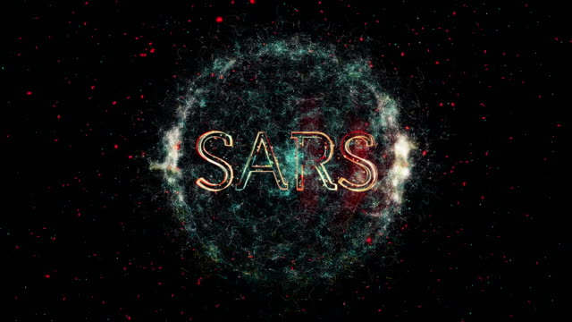 sars virus title animation - sudden acute respiratory syndrome stock videos & royalty-free footage