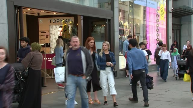 visa card outage hits uk customers; england: london: ext people along busy shopping street people along past shops matthew jaffa interview sot sign... - paying stock videos & royalty-free footage