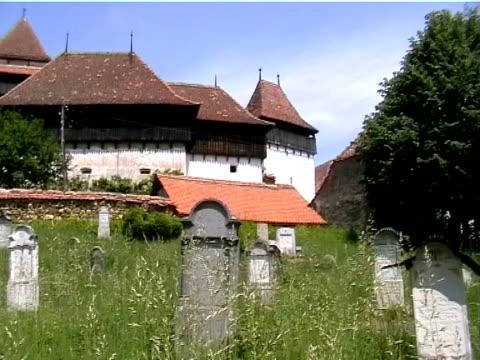 viscri, white church, romania - vlad the impaler stock videos & royalty-free footage