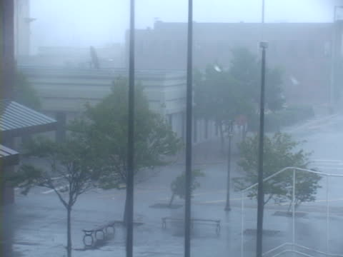 visibility drops to near zero in whiteout conditions hurricane force winds batter gulfport ms as hurricane katrina approaches the mississippi gulf... - hurricane katrina stock videos and b-roll footage