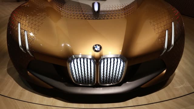vision next 100 concept automobile produced by bayerische motoren werke ag sits on display during a presentation in london uk on thursday june 16 2016 - bmw stock videos & royalty-free footage