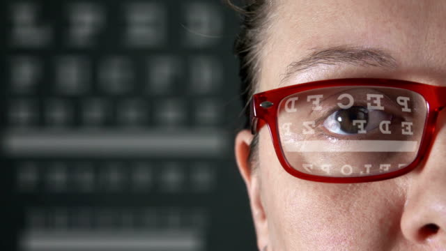 vision test - visual impairment stock videos & royalty-free footage