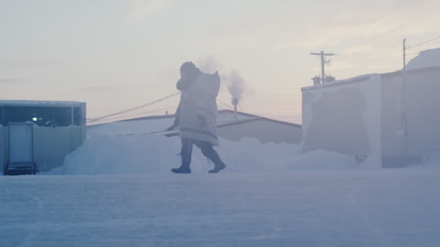 visions of an arctic town - inuit stock videos & royalty-free footage