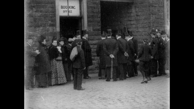 visit of sir george cotton at accrington 1902 - mp stock videos & royalty-free footage