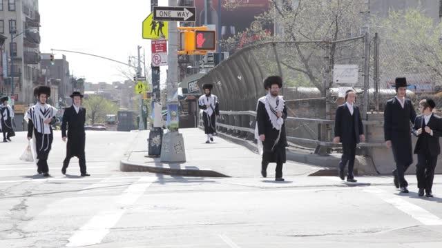 visit the ortodox jewish neighborhood of new york williamsburg brooklyn - judaism stock videos & royalty-free footage