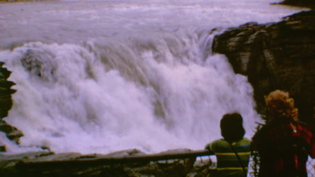 visit to athabasca falls - athabasca falls stock videos and b-roll footage