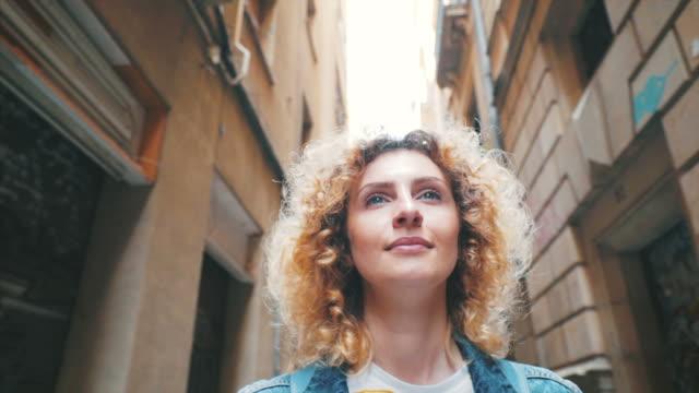 visiting barcelona hidden streets. - escapism stock videos & royalty-free footage