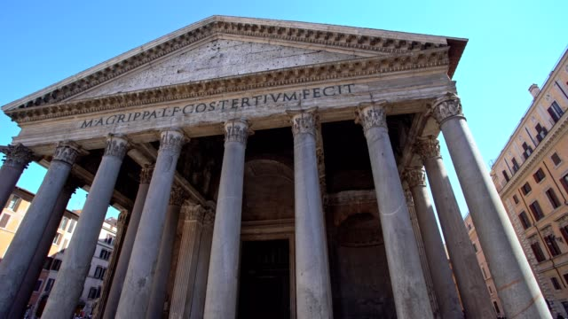 visiting pantheon rome - pantheon rome stock videos and b-roll footage