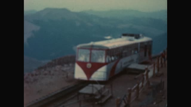 visiting pikes peak by mountain train / shot between 1962 and 1970 - colorado stock videos & royalty-free footage