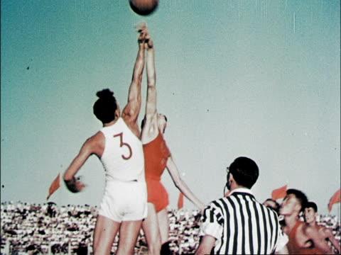 visiting polish men's basketball team plays china / poland wins 7268 - mao zedong stock-videos und b-roll-filmmaterial